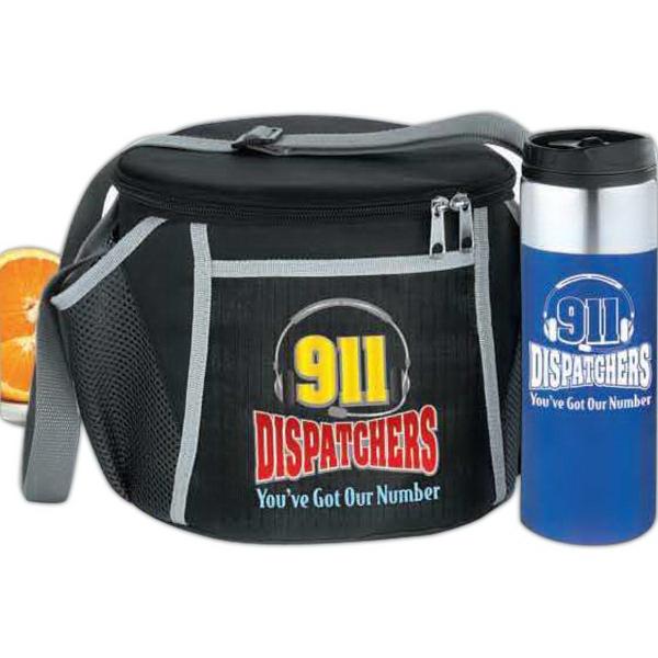 911 Dispatchers Daytona Lunch Bag & Strata Tumbler Gift Set
