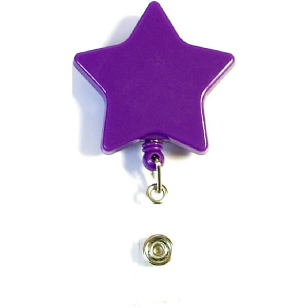 Star shape retractable badge holder with lanyard