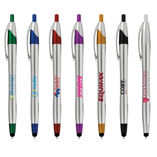 Marcia Stylus Pen - Pen that is available in a variety of colors with stylus on tip.