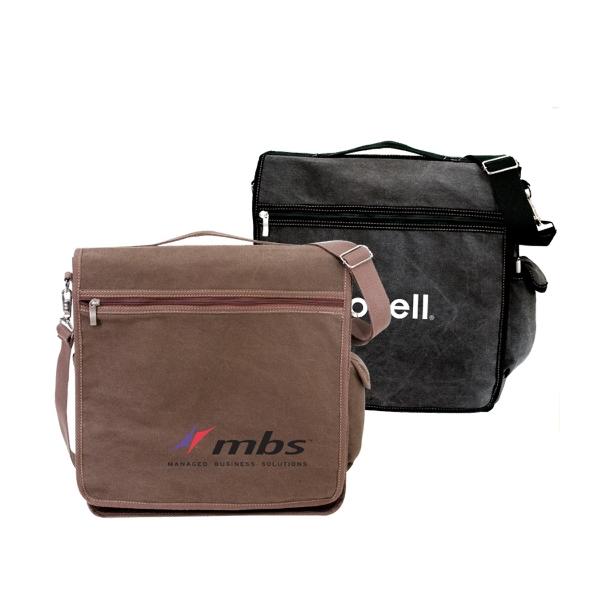 Convertible Canvas Messenger Bag