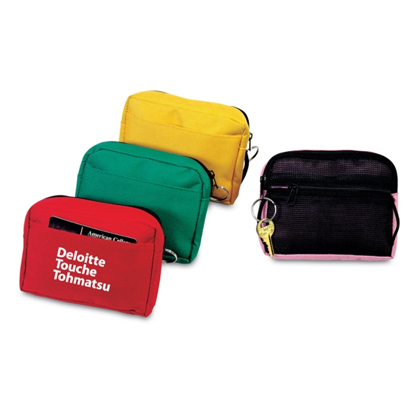 Travel bag coin pouch with ring