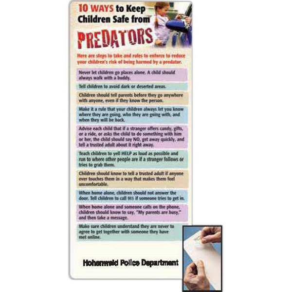 10 Ways To Keep Children Safe From Predator EZ Stick Glancer