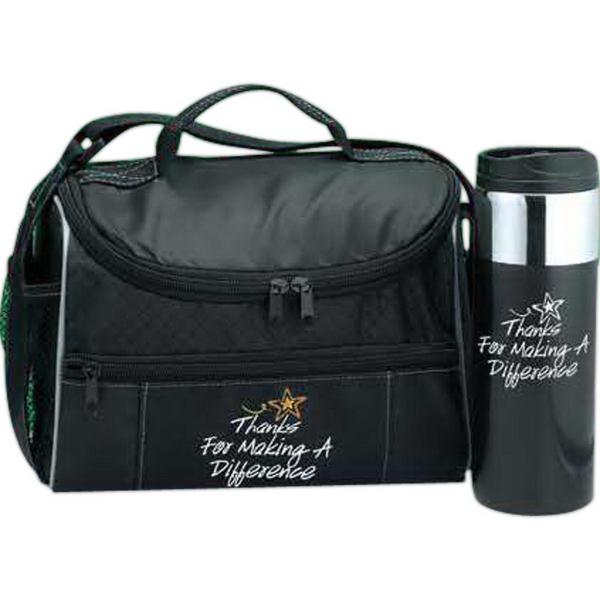Border Lunch Cooler & Strata Tumbler Gift Set
