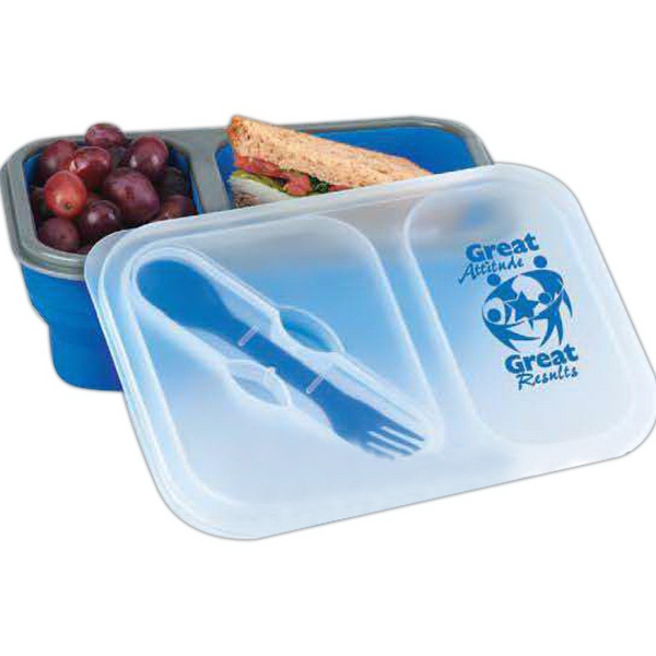 Collapsible Two-Section Lunch Container