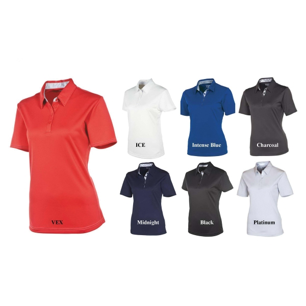 Cara Silver Fiber Short Sleeve Polo