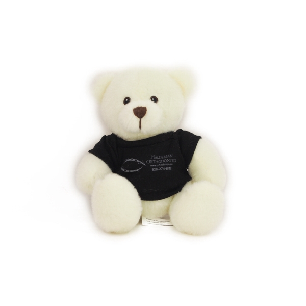 "6"" Sugar Bear with t-shirt and one color imprint"