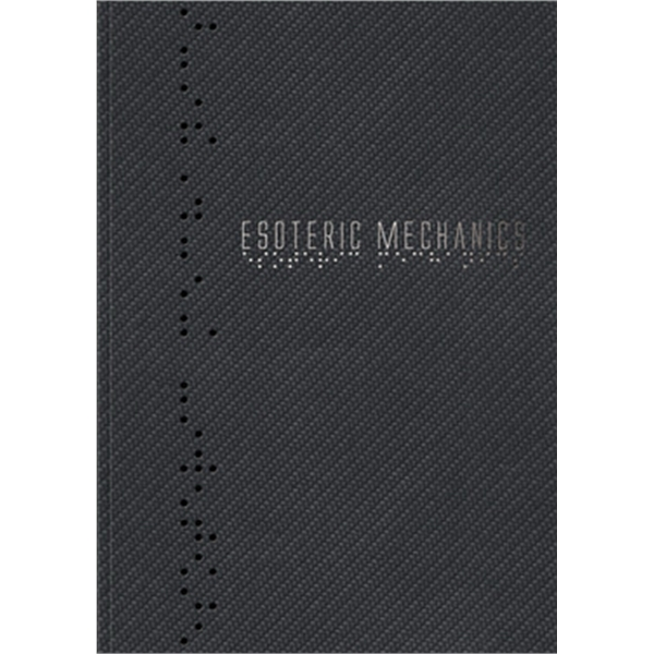 """Industrial Metallic Flex Perfect Book (TM) - Medium NoteBook - 7"""" x 10"""" Perfect-bound NoteBook with durable, carbon or mesh textured cover,100 sheets paper."""