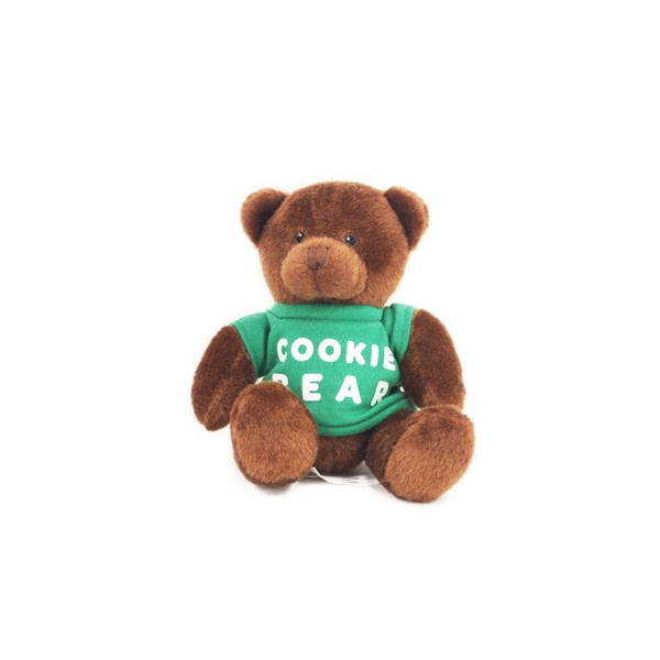 "6"" Cocoa Honey Bear with t-shirt and one color imprint"