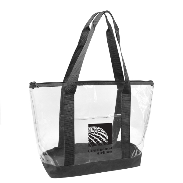 Transparent Zippered Tote Bag