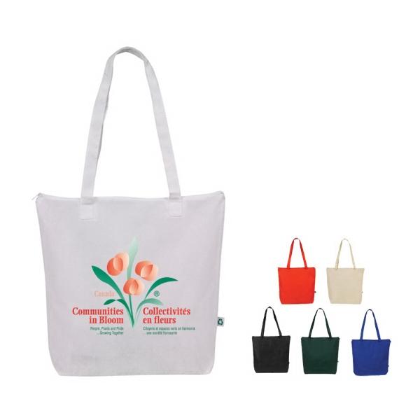 Promo Non Woven Zipper Eco Tote Bag with full color process