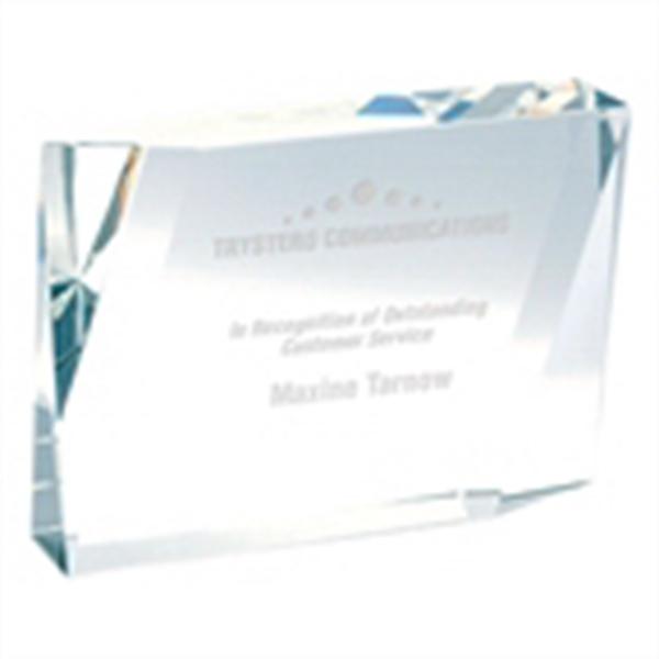 Beveled Rectangle Crystal Award - Beveled rectangle crystal award