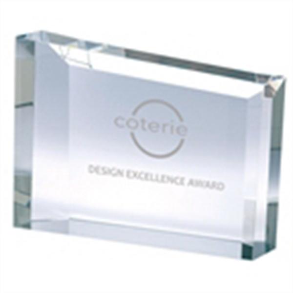 Rectangular Frame Crystal Award - Large rectangular optical crystal award.