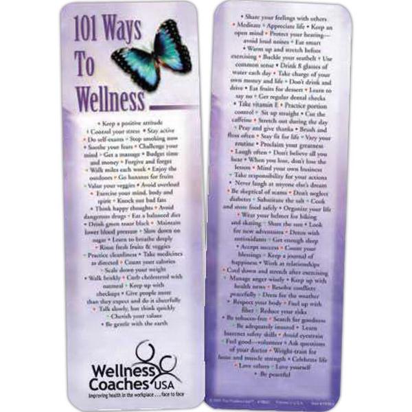 101 Ways To Wellness Bookmark