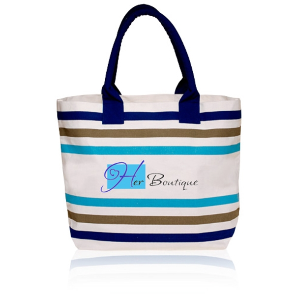 20W x 14H inch Stripe Seaside Tote Bags