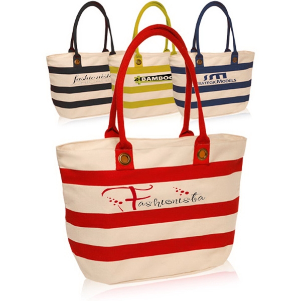 Striped Sailor Canvas Tote Bag