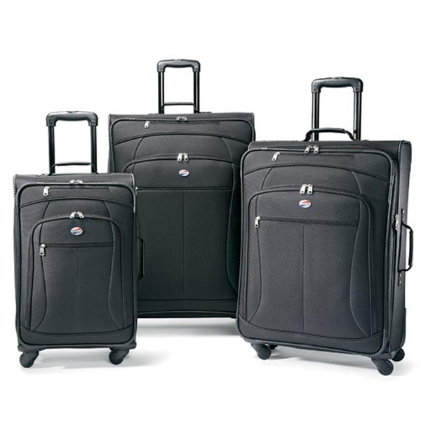 AT Pop 3Pc Spinner Luggage Set, Black