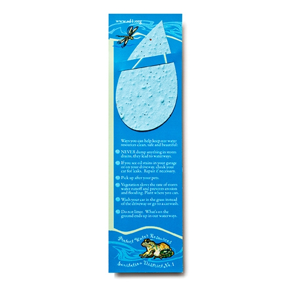 Droplet Seed paper shape bookmark
