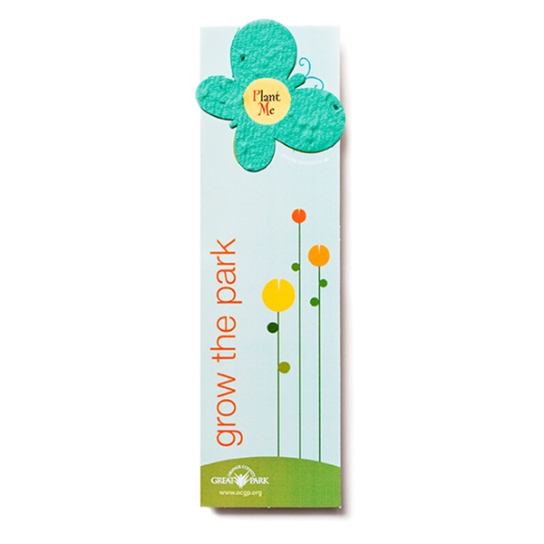 Butterfly seed paper shape bookmark