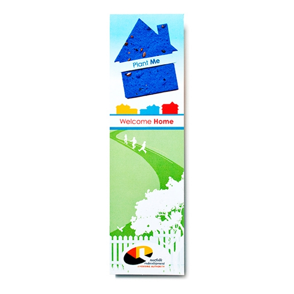 House seed paper shape bookmark