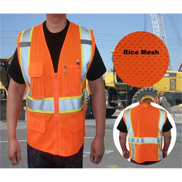Premium ANSI/ISEA 107-2010 Class Mesh 2-Tone Safety vests