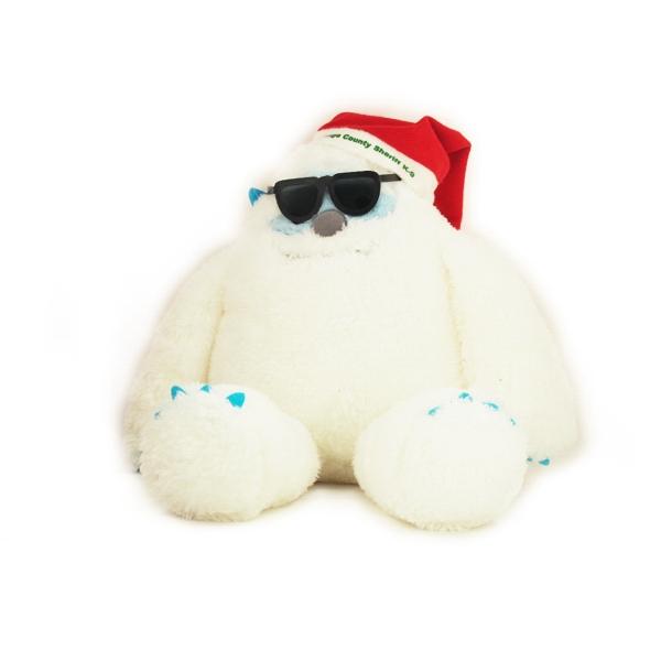 "16"" Yulli Yetti with Santa Hat one color imprint sunglasses"