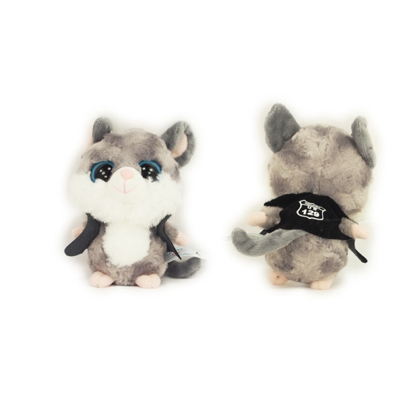 """5"""" Twitchie Mouse with vest one color imprint"""