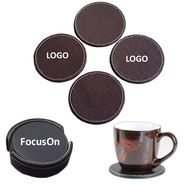PU Leather Coaster Set