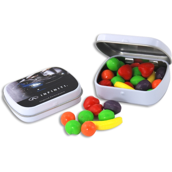 Pocket Hinged Tin with Candy Runts - Pocket Hinged Tin with Candy Runts
