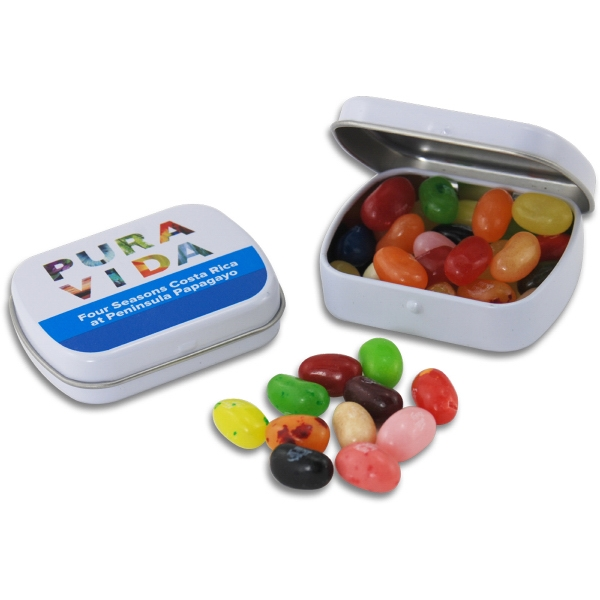 Pocket Hinged Tin with Candy Jelly Belly Jelly Beans - Pocket Hinged Tin with Candy Jelly Belly Jelly Beans
