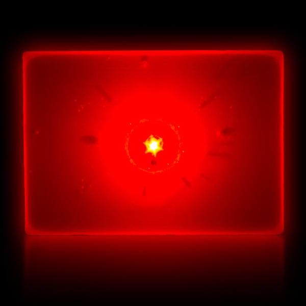 Red LED Light Up Glow Blinking Rectangles Blinky