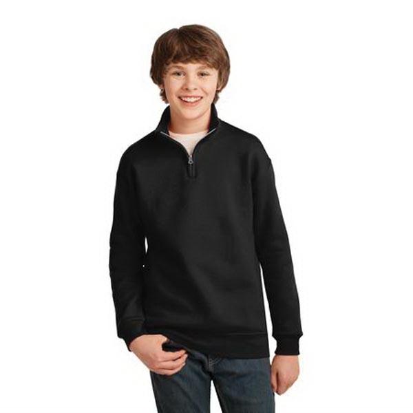 JERZEES Youth NuBlend ; 1/4-Zip Cadet Collar Sweatshirt.