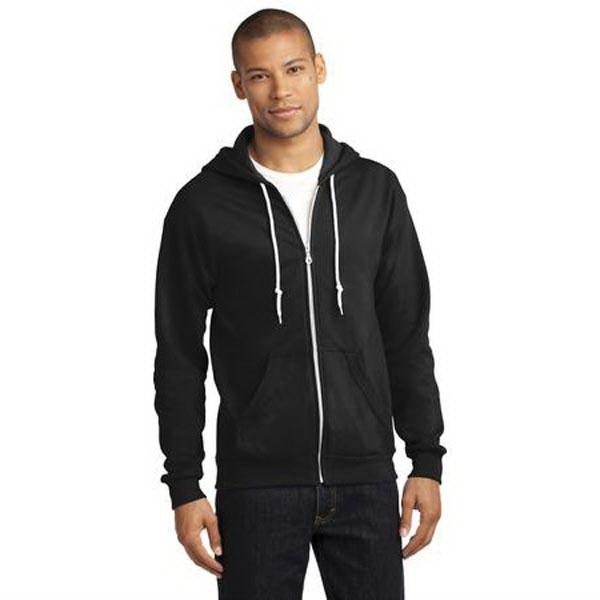 Anvil Full-Zip Hooded Sweatshirt.