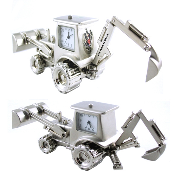 Excavator Shaped Clock