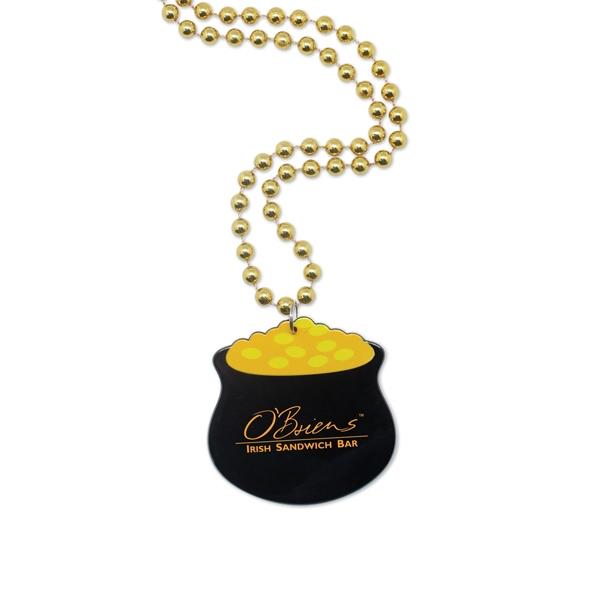 Pot of Gold Medallion Beads