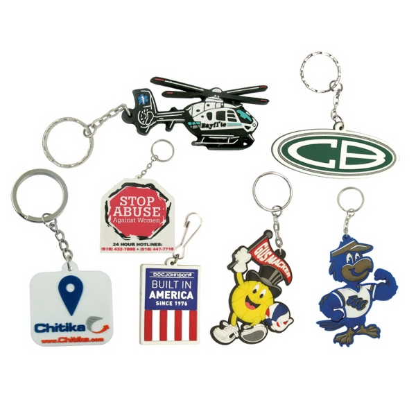 4 Square inch Custom PVC Key Tags