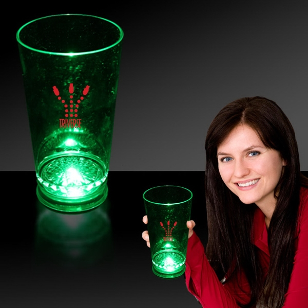 Green 16 oz. Light Up LED Pint Glass
