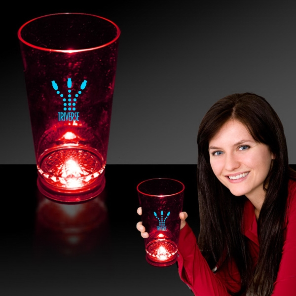 Red 16 oz. Light Up LED Pint Glass