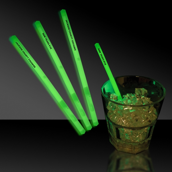 "Green 5"" Single Color Light Up Glow Swizzle Stick"