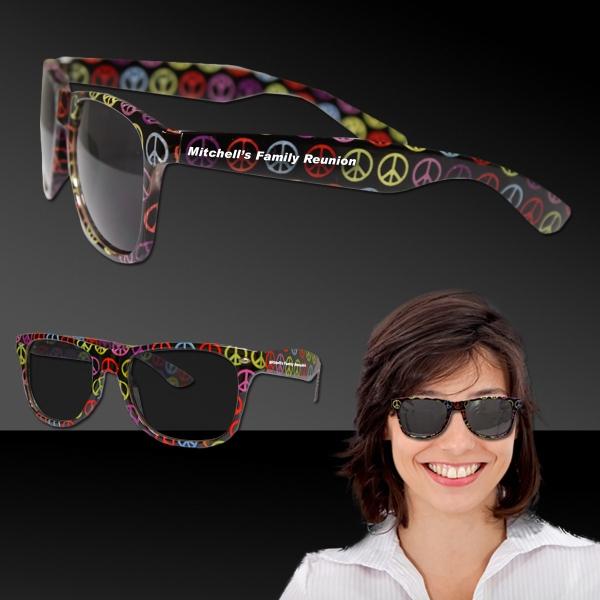 Peace Sign Blues Sunglasses