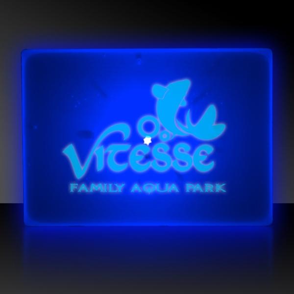 Blue LED Light Up Glow Blinking Rectangles Blinky