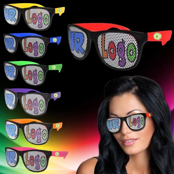 Assorted Custom Neon Billboard Sunglasses