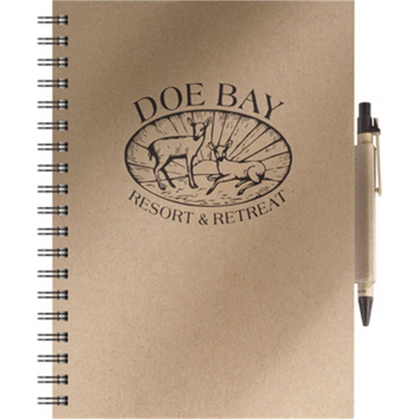 Eco Books - Medium Note Book w/ EcoPort & Soft Square Pen