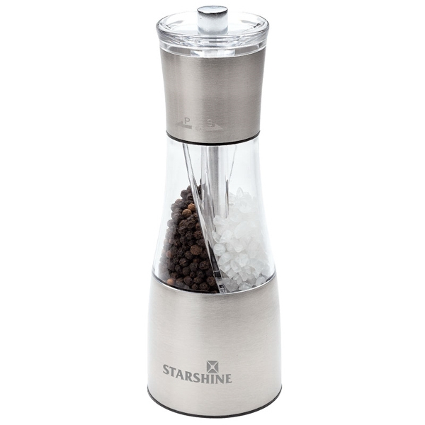 Dual Salt & Pepper Mill - Salt and pepper mill with dual chambers.