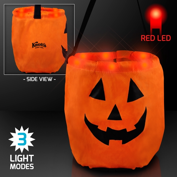 LED Pumpkin Trick-Or-Treat Halloween Bag