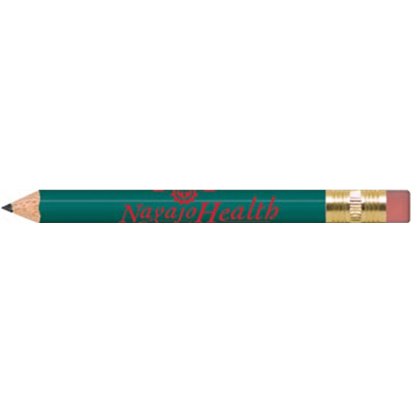 Teal Round Golf Pencils with Erasers