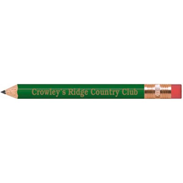 Golf Green Round Golf Pencils with Erasers