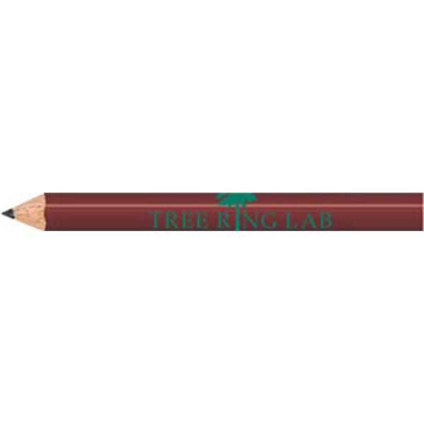 Maroon Round Golf Pencils