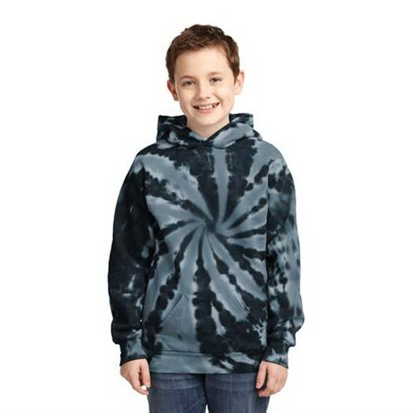 Port & Company Youth Tie-Dye Pullover Hooded Sweatshirt.