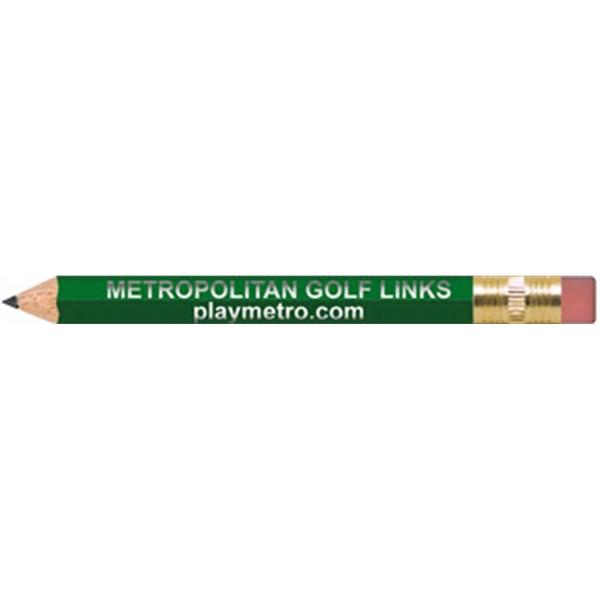 Golf Green Hexagon Golf Pencils with Erasers