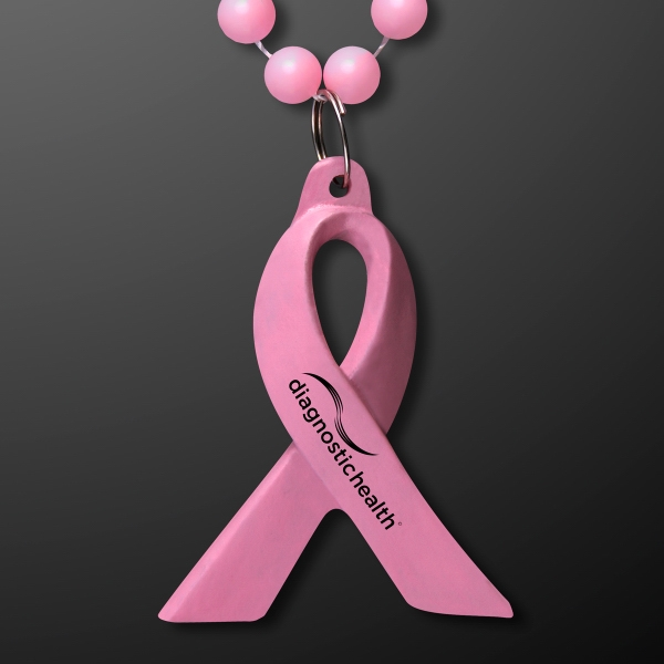 Breast Cancer Awareness Pink Ribbon Beads